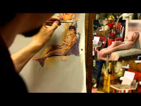 Этюды с разным светом - Обучение живописи. Масло. Фигура, 3 серия