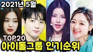 2021년 5월 아이돌그룹 인기순위 브랜드평판 TOP20 (남녀통합) Korea idol group popu…