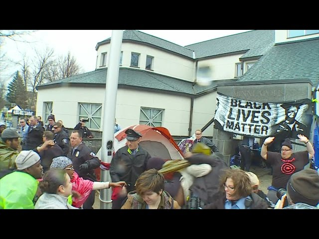 Police Discuss BLM Removal From Precinct Building