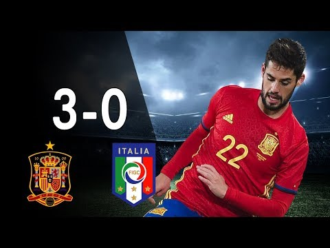 Spain vs Italy 3-0 - Highlights & Goals - Qualfication World Cup 2018 02/09/17 - HD