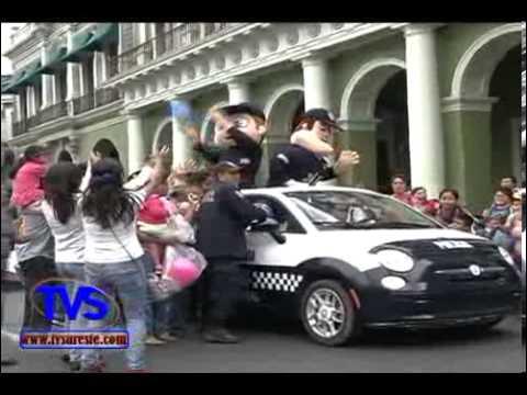 TVS Noticias.- Policía Estatal realiza Desfile por las calles de Xalapa, Ver.