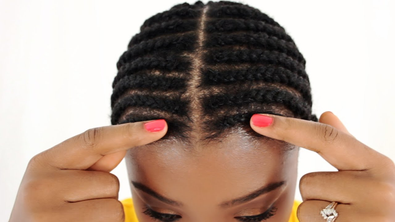 Middle Part Sew In Braid Pattern Cool Design Inspiration