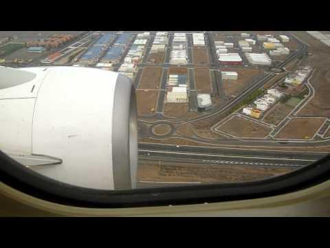 Aterrizaje En Ryanair En Las Palmas Desde Madrid.