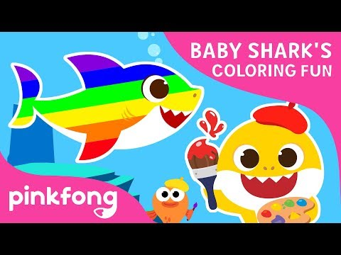 Baby Shark's Coloring Fun | Baby Shark Coloring Book | Toy Show | Pinkfong Toy Show for Children