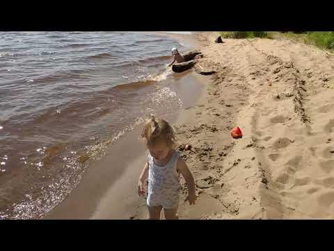 Лето речка Кама, купаемся