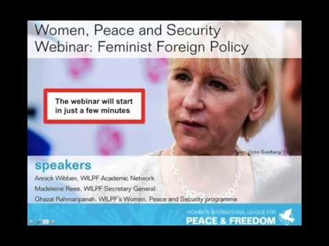 Women, Peace & Security Webinar: Feminist Foreign Policy