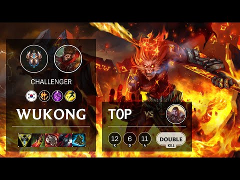 Wukong Top vs Jayce - KR Challenger Patch 10.18