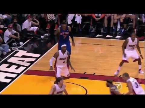 FULL Highlights of LEBRON JAMES(32 points) GAME 1 Knicks vs. Heat (4.28.12)