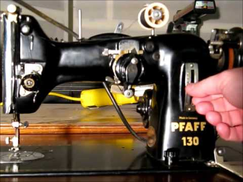 Pfaff 130 Sewing Machine with Automatic 50010 Attachment - YouTube