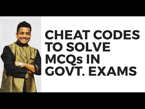 Cheat Codes To Solve MCQs In Govt. Exams (UPSC/SSC/Banking) By Roman Saini
