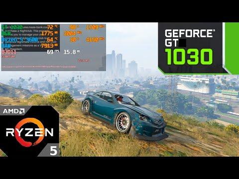 GTA 5 Online : GT 1030 + Ryzen 5 3600 : 1080p - 900p - 720p