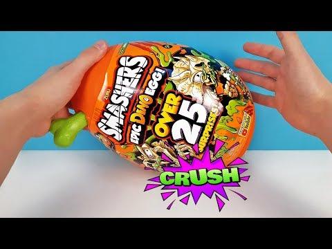 РАЗБИЛ ГИГАНТСКОЕ ЯЙЦО ДИНОЗАВРА! 25 СЮРПРИЗОВ Smashers ZURU Series 3 EPIC DINO EGG Toys Unboxing