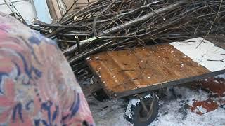 Ручний вантажний 4 х колісний візок на 500 кг взимку