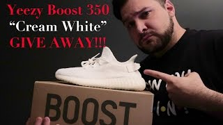 yeezy 350 v2 creme white give away all over the world