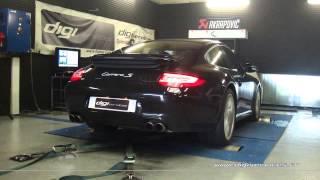 Reprogrammation Moteur Porsche 997 Carrera S 385cv @ 396cv Digiservices Paris 77183 Dyno