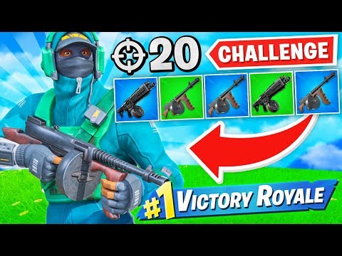 WINNING with DRUM WEAPONS ONLY Challenge! (20 Elims)
