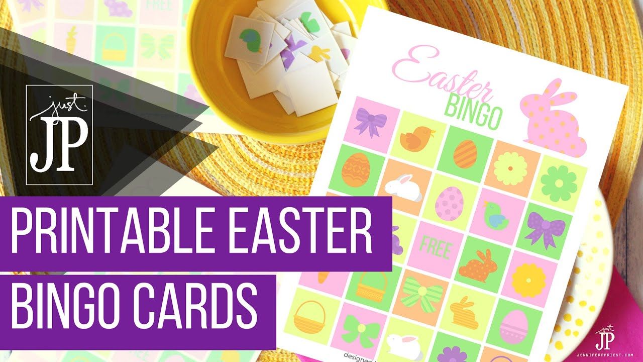 picture relating to Free Printable Easter Bingo Cards titled Easter Bingo Playing cards with Xyron