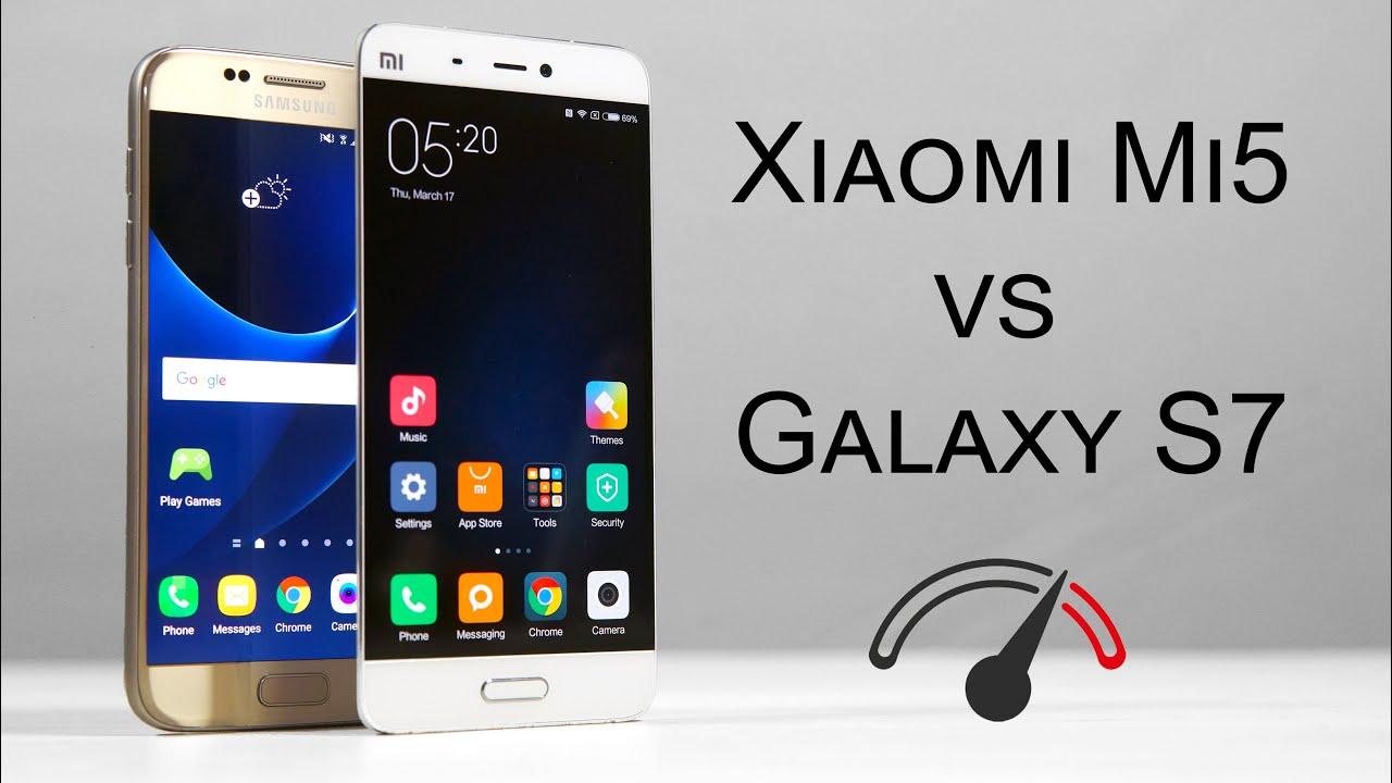 Xiaomi Mi5 Vs Galaxy S7 - Speed Test Comparison