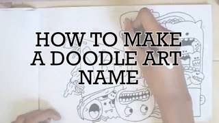 How To Make Doodle Art Name