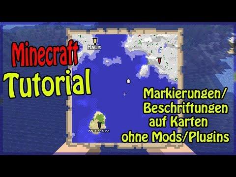 Minecraft Karten Erstellen.Minecraft Markierungen Beschriftungen Auf Karten Erstellen