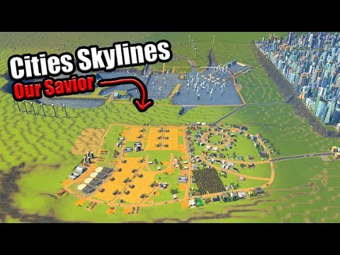 Stopping The Flooding By Building a Giant Fish in Cities Skylines [Crater Map#12]