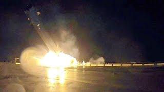SpaceX's Falcon 9 rocket crash landing on autonomous spaceport drone ship