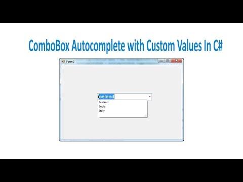 ComboBox Autocomplete With Custom Values - YouTube
