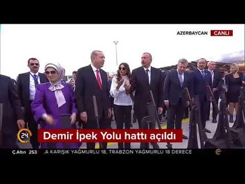 Dev proje Bakü-Tiflis-Kars Demiryolu Hattı açıldı