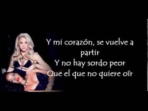 Shakira - Nunca Me Acuerdo De Olvidarte (Letra)