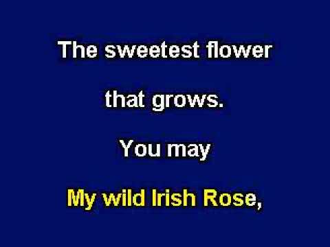 My Wild Irish Rose, Karaoke video with lyrics, Instrumental Version