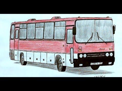 Как нарисовать Автобус Икарус поэтапно(Ehedov Elnur)Adım adım bir otobüs nasıl çizilir