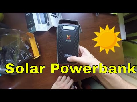 Unboxing Xtorm HYBRID SOLAR Bank 10000 mAh PowerBank FS103