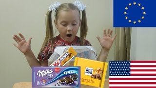 Зарубежные сладости из ЕС и США // Foreign sweets from the EU and the US