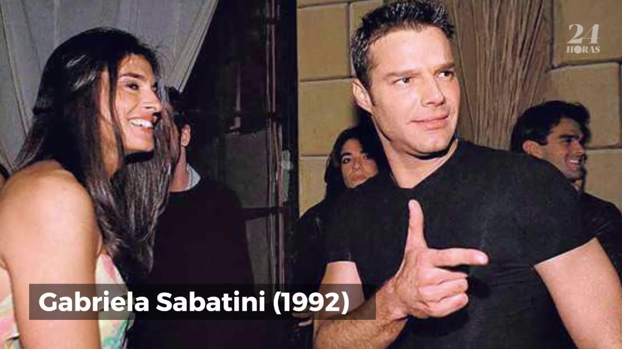 Resultado de imagen para ricky martin y GABRIELA SABATINI