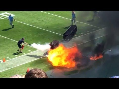 اخلاء اللاعبين من الملعب بولاية تينيسي الأمريكية بسبب نشوب حريق  - نشر قبل 25 دقيقة