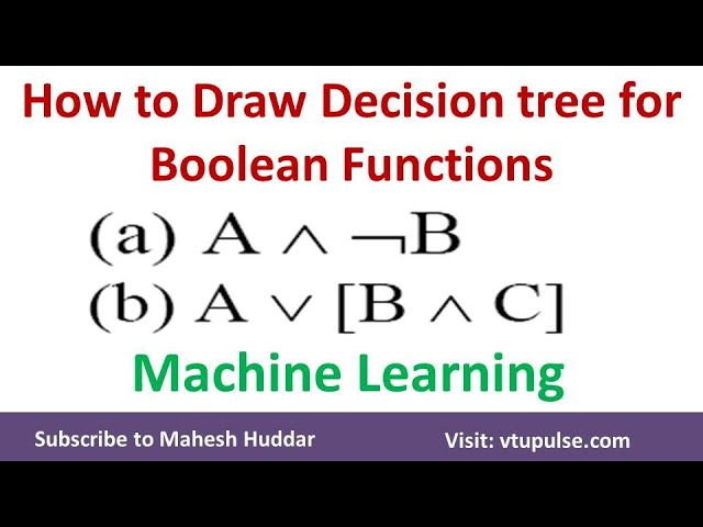 1.  How to build a decision Tree for Boolean Function | Machine Learning by Mahesh Huddar