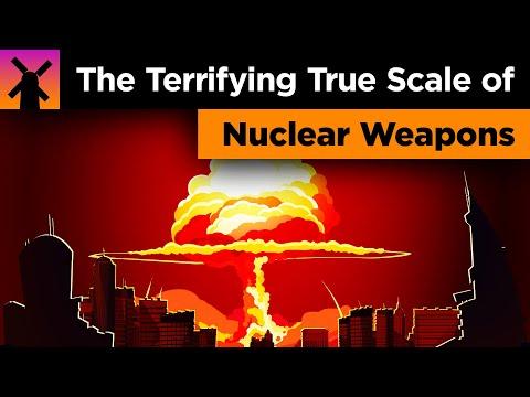 Истинный масштаб ядерных взрывов: видео