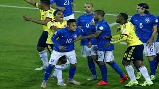 Así fue la pelea entre Neymar y Carlos Bacca Brasil vs Colombia 0-1 Copa América Chile 2015