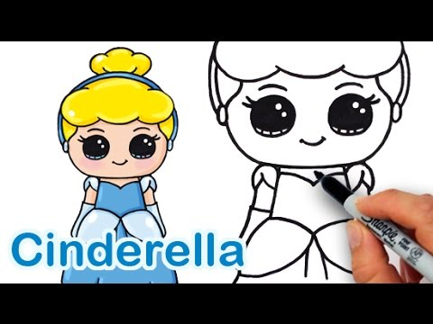 How to Draw Disney Princess Cinderella Cute and Easy