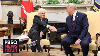 WATCH LIVE: Trump holds news conference with Italian president