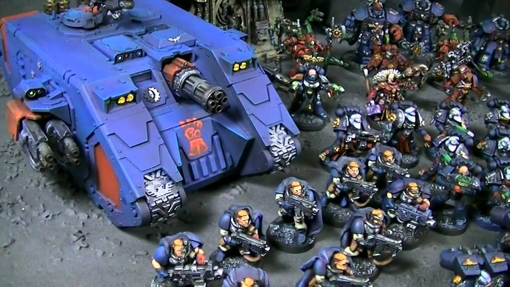 Crimson Fists Army Blue Table Painting Youtube