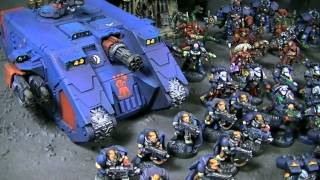 Crimson Fists Army- Blue Table Painting