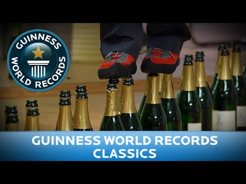 Guinness World Records Day 2013 - Most Bottles Walked On