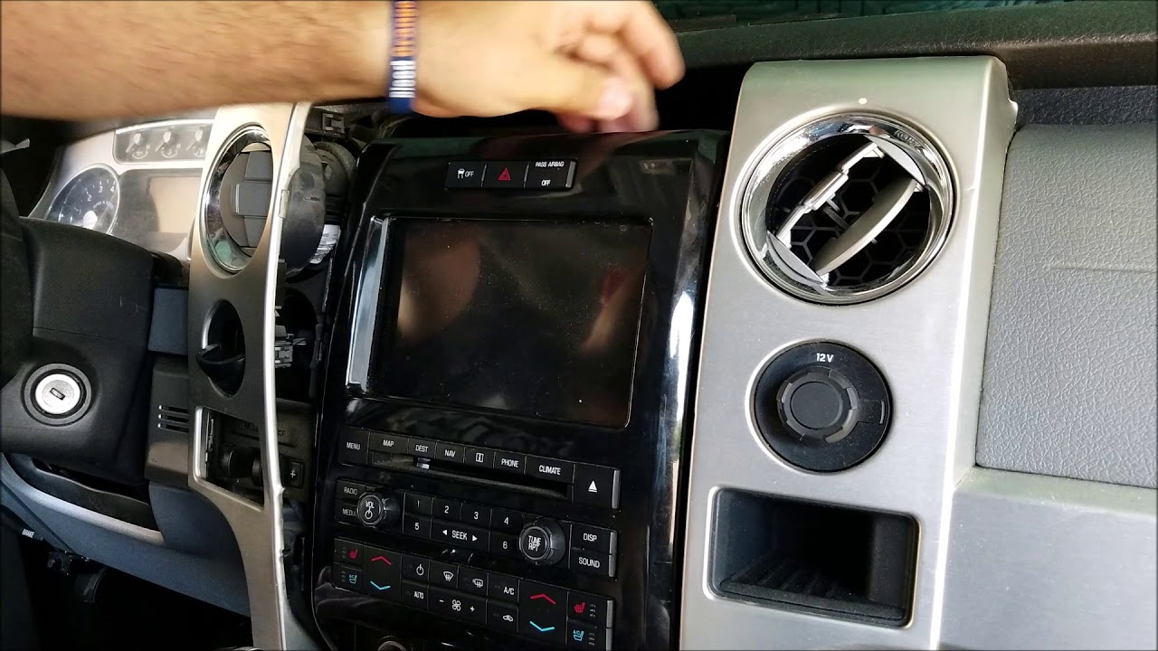 How To Remove Radio Navigation Touch Screen From 2011 Ford F150 For Repair Youtube