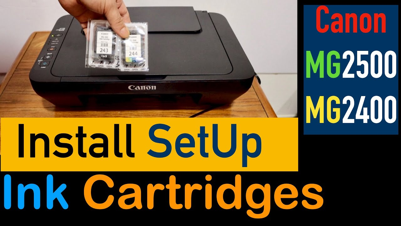 How To Install Setup Ink Cartridges Canon MG20/ MG20 Series Printer.