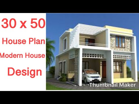 30 X 50 House Design 2 Bhk Youtube