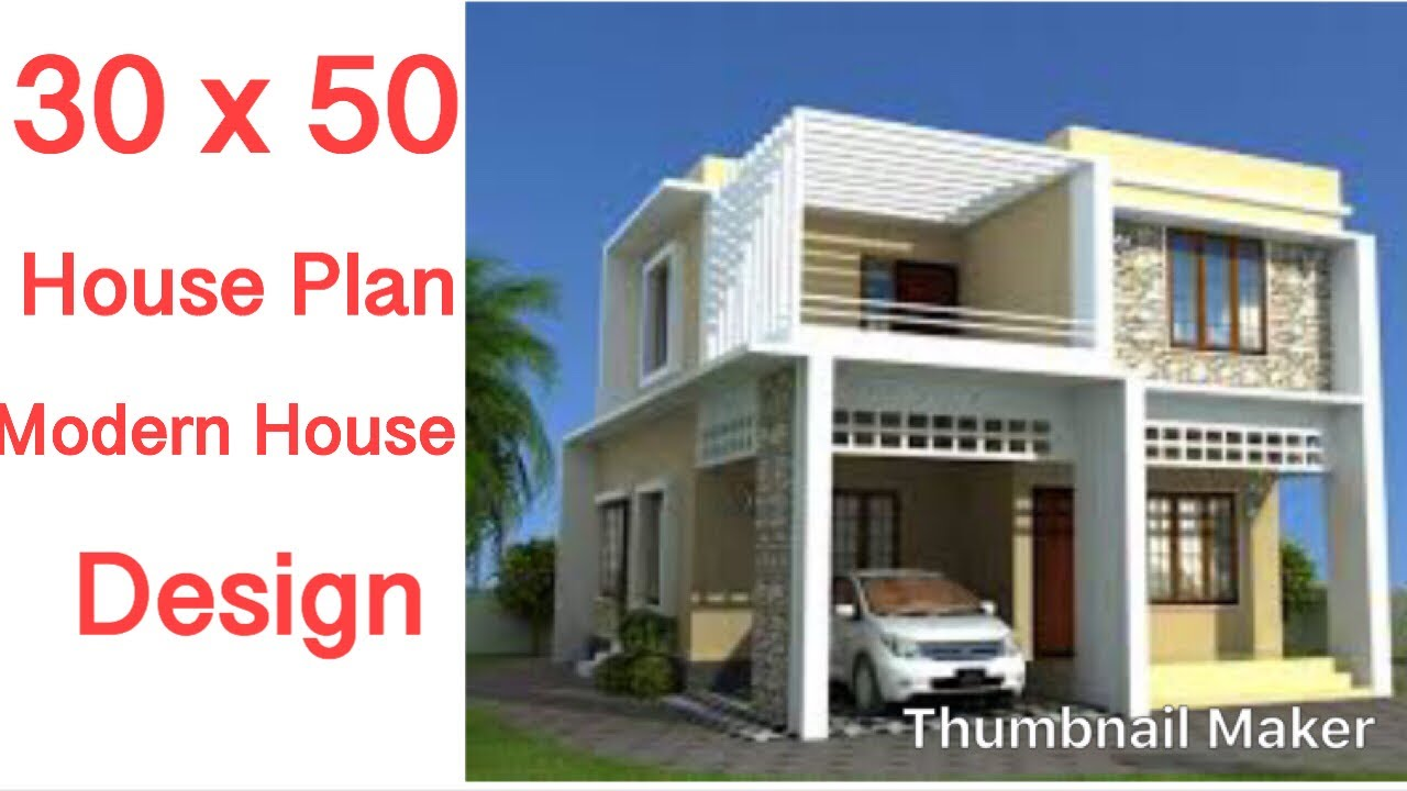 30 X 50 House Design 2 Bhk