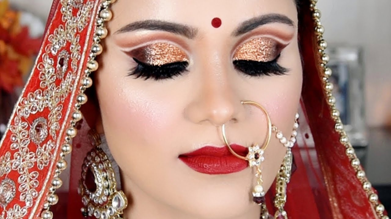 double cut crease indian bridal makeup tutorial in hindi |beyourself channel