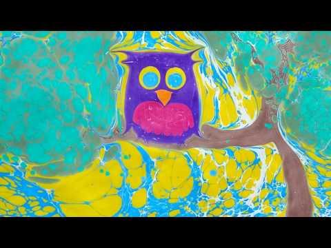 XandA Ebru Art Tutorials – Animals #8 – Owl
