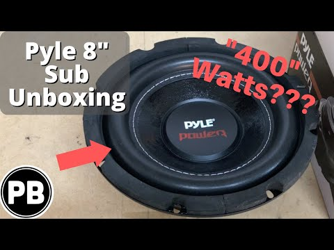"Pyle 8"" DVC Subwoofer Unboxing ""400"" Watts RMS PLPW8D"